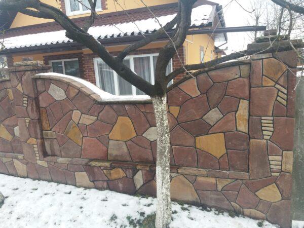 Паркан з природного каменю 14